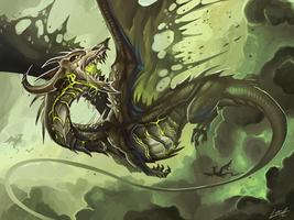 Necrotic Dragon by Lanasy