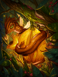 Starfruit Dragon by Lanasy