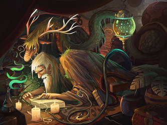 Visit with the Green Wizard by Lanasy
