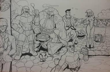 Obscure Pool Party Sketch by CaptainVigilante