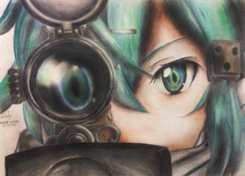 Sword Art Online 2 - Sinon by januaroreo