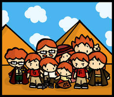 Weasleys in Egypt by cippow25