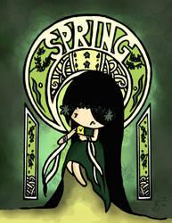 Art Nouveau SPRING by cippow25