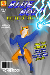 BLUE BOLT Comic Issue 1 Cover by mitofox