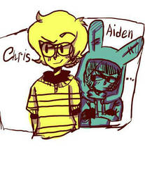 Chris and Aiden by death666cat