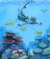 Deep Blue World by Khezix