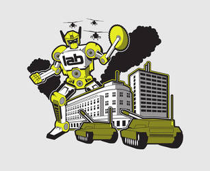 ATTACK OF THE LAB tee design by 54NCH32