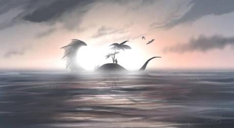 Sea Monster Island by Vaidilute