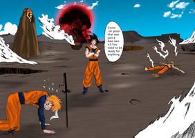 training with goku by viktorangel1