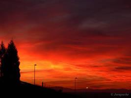 Another burning sky by Jorapache