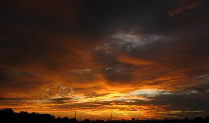 A Fiery Sky by SarahJPhotography