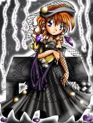 Black + Purple Roses by langka