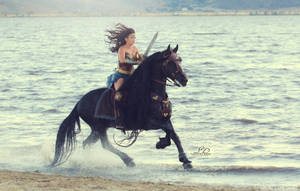 Wonder Woman and her Stallion by SamanthaDawn1