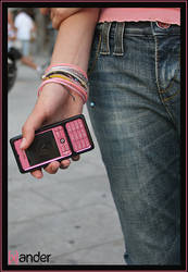 PINK AND BLACK NOKIA by Gonkiok