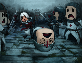 Altair kicks ass by CavalierediSpade