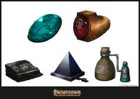 Pathfinder: Magical Marketplace illust I by CavalierediSpade