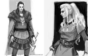 Vikings sketches by CavalierediSpade