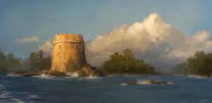 Tower at Sea by CavalierediSpade