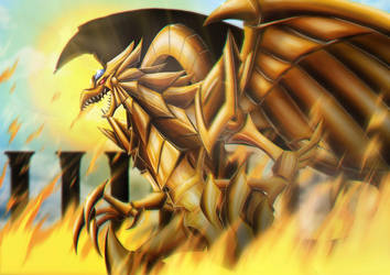Winged Dragon of Ra by Kraus-Illustration