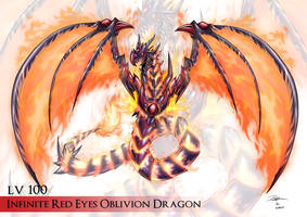 Infinite Red Eyes Oblivion Dragon by Kraus-Illustration