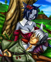 Miqo'te Couple by Peipei22
