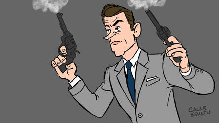 Sean Connery as James Bond by Caleb-Eshetu