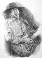 Stevie Ray Vaughan by artcova