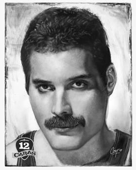 Freddie Mercury - 12Caras by artcova