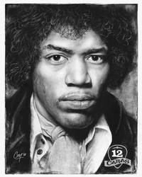 Jimi Hendrix - 12Caras Series by artcova