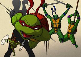 Ninja Turtles redux colour by MartinSzymanski