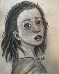 Jordan - charcoal drawing by TheHunterOfEvil