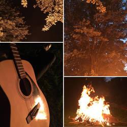 Bonfire - photo collage by TheHunterOfEvil