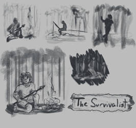 sketches of a survivalist  - concept by TheHunterOfEvil