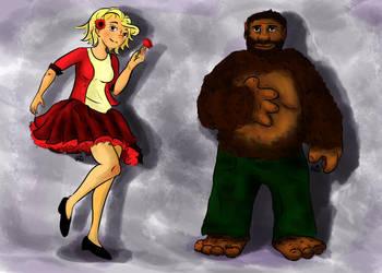 Poppy and Buffy by TheHunterOfEvil