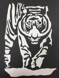 White Paper Tiger by TheHunterOfEvil