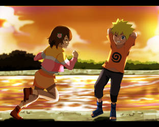 Commission:  Ren and Naruto by tenchufreak