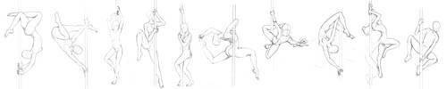 [Pose Study] 01 - Pole Dancing by Vixenkiba