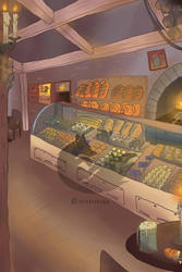 Bakery Background by Vixenkiba