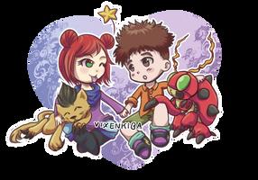 [CM] Akiko and Koushiro by Vixenkiba