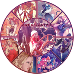 Art VS Artist Meme + Template Download by Vixenkiba