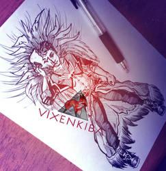 [FoRLoVE Nuzlocke] Adult Vulcan - Typhlosion by Vixenkiba