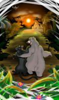 Jungle Best Friend by R-FakonWolf