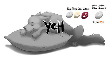 Nice soft pillow - Wolf YCH Point commission by R-FakonWolf