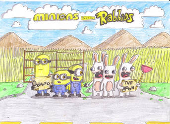 Minions and Rabbids by Finnjr63