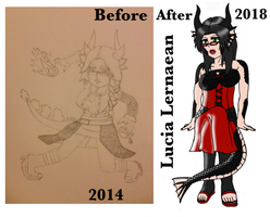 Before and after: Lucia Lernaean  by zackeiusPayne