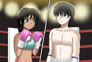 Mixed Boxing - Before the Fight by AzaSket