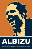 Albizu - Orange Poster by exvoxdesigns