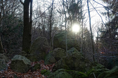 Rocks and the morning sun by s8472
