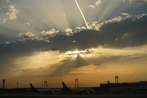 Summer Evening at the Airport I by s8472