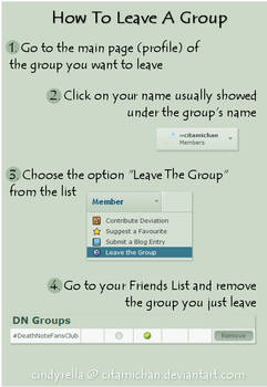 Group Tutorial: How To Leave A Group by itz-Cindyrella